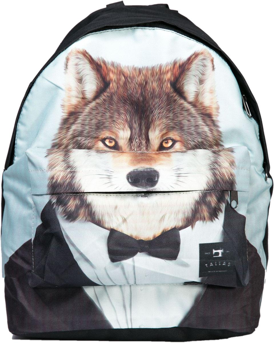 Рюкзак Mitya Veselkov Волк в смокинге, цвет: черный. BACKPACK-WOLFBACKPACK-WOLFСтильный молодежный рюкзак с изображением волка в смокинге из текстиля. Внутри одно большое отделение и карман. Снаружи вместительный карман на молнии.
