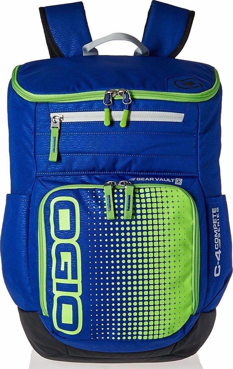 Рюкзак городской OGIO Active. C4 Sport Pack (A/S), цвет: синий, салатовый. 031652226906031652226906Удобнейший рюкзак для занятий спортом с огромным основным отделением и несколькими внешними карманами. Туда поместится экипировка практически для любого вида спорта. Вам он точно понравится.