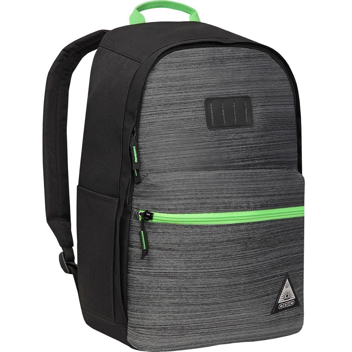 Рюкзак городской OGIO Urban. Lewis Pack (A/S), цвет: темно-серый, салатовый. 031652226944031652226944Компактный, но при этом достаточно вместительный рюкзак от Ogio. Имеется специализированный отсек для ноутбука а также уплотненный карман для ценных вещей на молнии. Внешний передний и боковой карманы на вертикальной молнии обеспечивают быстрый доступ к содержимому, позволяя всегда держать необходимые аксессуары и документы поблизости.