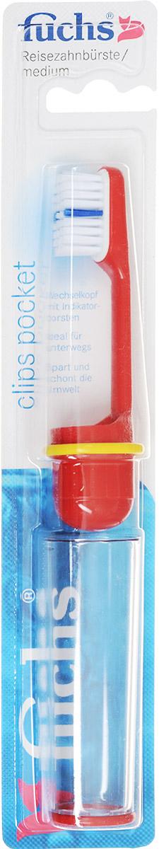 Fuchs Зубная щетка дорожная, цвет: красный