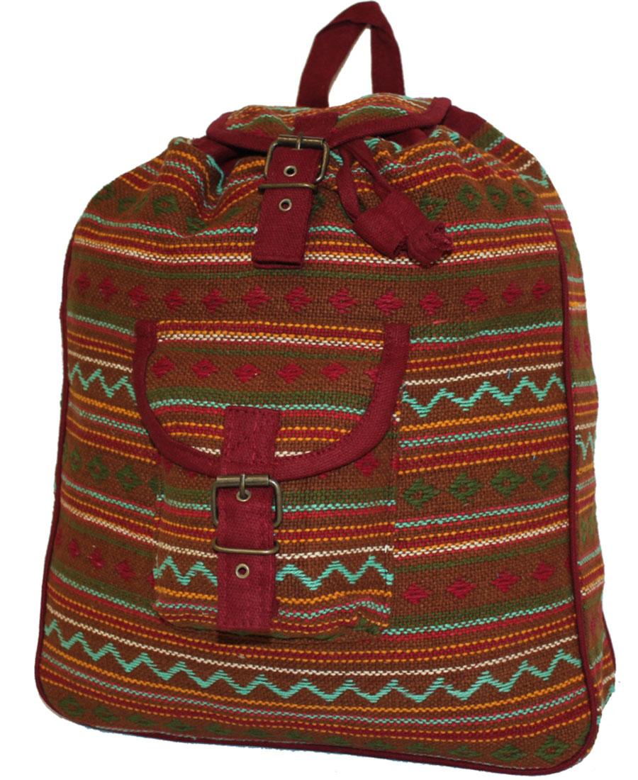 Сумка-рюкзак женская Ethnica, цвет: горчичный. 187250187250Женская сумка-рюкзак Ethnica изготовлена из качественного текстиля. Сумка имеет одно вместительное отделение и застегивается на металлическую пряжку. Внутри имеется основное отделение. Спереди сумка-рюкзак дополнена накладным карманом с клапаном. Сумка оснащена ручкой для переноски и двумя наплечными ремнями.