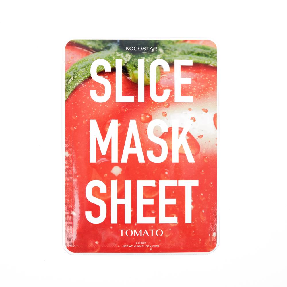 Kocostar Маска-слайс для лица Томат, 20 мл / Slice Mask Sheet (Tomato)20-0010Оригинальная и очень эффективная маска в виде сочных тонких ломтиков томата обладает успокаивающим эффектом и подходит для всех типов кожи. Важно отметить, что маску-слайс можно применять на разных участках лица и тела. Сразу после использования кожа интенсивно увлажнена и становится более мягкой, заметно уменьшаются раздражения на коже. Экстракт томата содержит высокую концентрацию витамина С, В и микроэлементов, которые активно питают кожу, способствуя ее регенерации. Гиалуроновая кислота в составе маски обеспечивает глубокое увлажнение и повышает упругость.