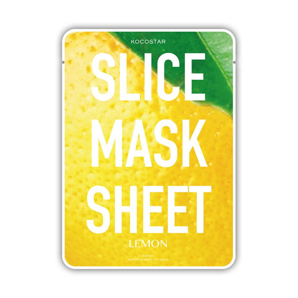 Kocostar Маска-слайс для лица Лимон, 20 мл / Slice Mask Sheet (Lemon)20-0011Тусклый безжизненный цвет лица? Пора детокса и увлажнения! Оригинальная и очень эффективная маска в виде ломтиков сочного лимона специально разработана для улучшения тона кожи и здорового сияния. Экстракт лимона, обладающий антиоксидантным воздействием, за счет высого содержания витамина С отбеливает кожу, а аромат лимона заряжает энергией и свежестью! Маска-слайс содержит гиалуроновую кислоту и коллаген, которые обеспечивают глубокое увлажнение и активацию защитных свойств кожи. Слайсы подходят для всех типов кожи, кроме чувствительной.