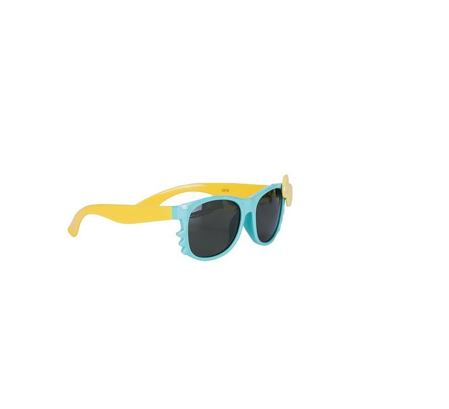 Очки солнцезащитные детские Vitacci, цвет: голубой. 13804-1013804-10Стильные солнцезащитные очки Vitacci выполнены из пластика. Линзы дополнены защитой от ультрафиолетового излучения. Оправа очков легкая, прилегающей формы и обеспечивает максимальный комфорт. Такие очки станут прекрасным и модным аксессуаром и порадуют вашего ребенка.