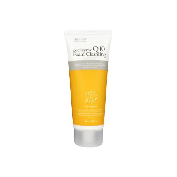 3W Clinic Пенка для умывания Coenzyme Q10 Foam Cleansing, 100 мл3027-287706Нежная пенка для умывания на основе натуральных экстрактов, не сушит и не стягивает кожу. Очищает даже самый стойкий макияж, в том числе и BB крем. Коэнзим Q10 - «эликсир молодости» организма. Антиоксидант, который участвует в окислительно-восстановительных реакциях в организме, восстанавливает антиоксидантную активность витамина Е. Отлично подойдет для сухой и зрелой кожи.