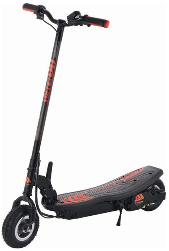 Электросамокат Larsen, цвет: черный, красный. CD12A342253Материал колес: резина Максимальная масса пользователя: 100 кг Размеры: 110 x 50 x 100 см Двигатель: 250W, цепная передача Батарея: 24V 7AH, свинцово-кислотная Время полной зарядки: 5-8 ч Максимальная скорость: 20 км/ч Максимальная дистанция: 15-20 км Вес: 18 кг