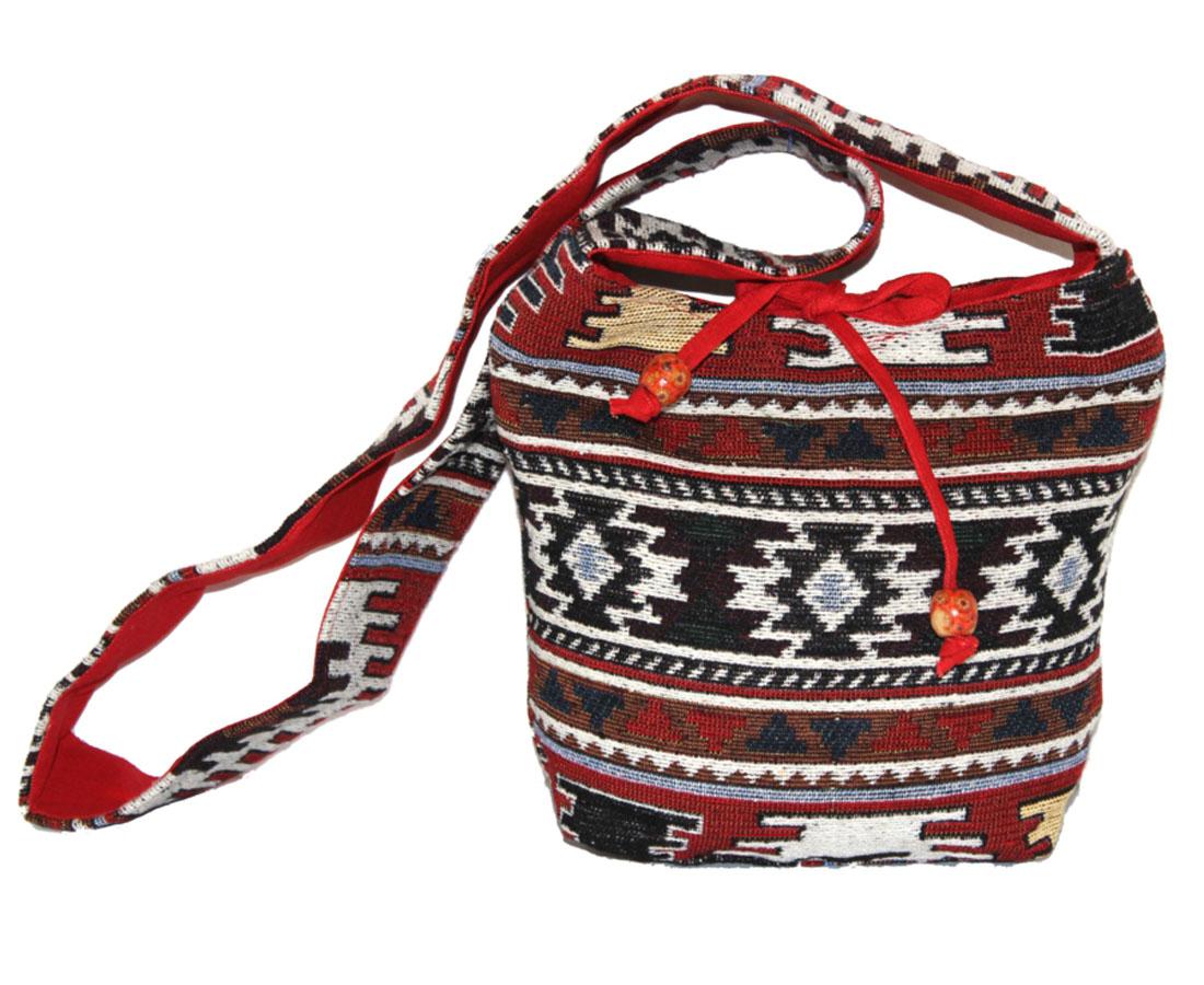 Сумка женская Ethnica, цвет: красный, мультиколор. 203150203150Изготавливается из натурального сырья с использованием натуральных красителей.