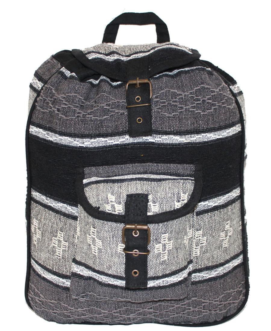 Сумка-рюкзак женская Ethnica, цвет: серый, белый. 187250187250Женская сумка-рюкзак Ethnica изготовлена из качественного текстиля. Сумка имеет одно вместительное отделение и застегивается на металлическую пряжку. Внутри имеется основное отделение. Спереди сумка-рюкзак дополнена накладным карманом с клапаном. Сумка оснащена ручкой для переноски и двумя наплечными ремнями.