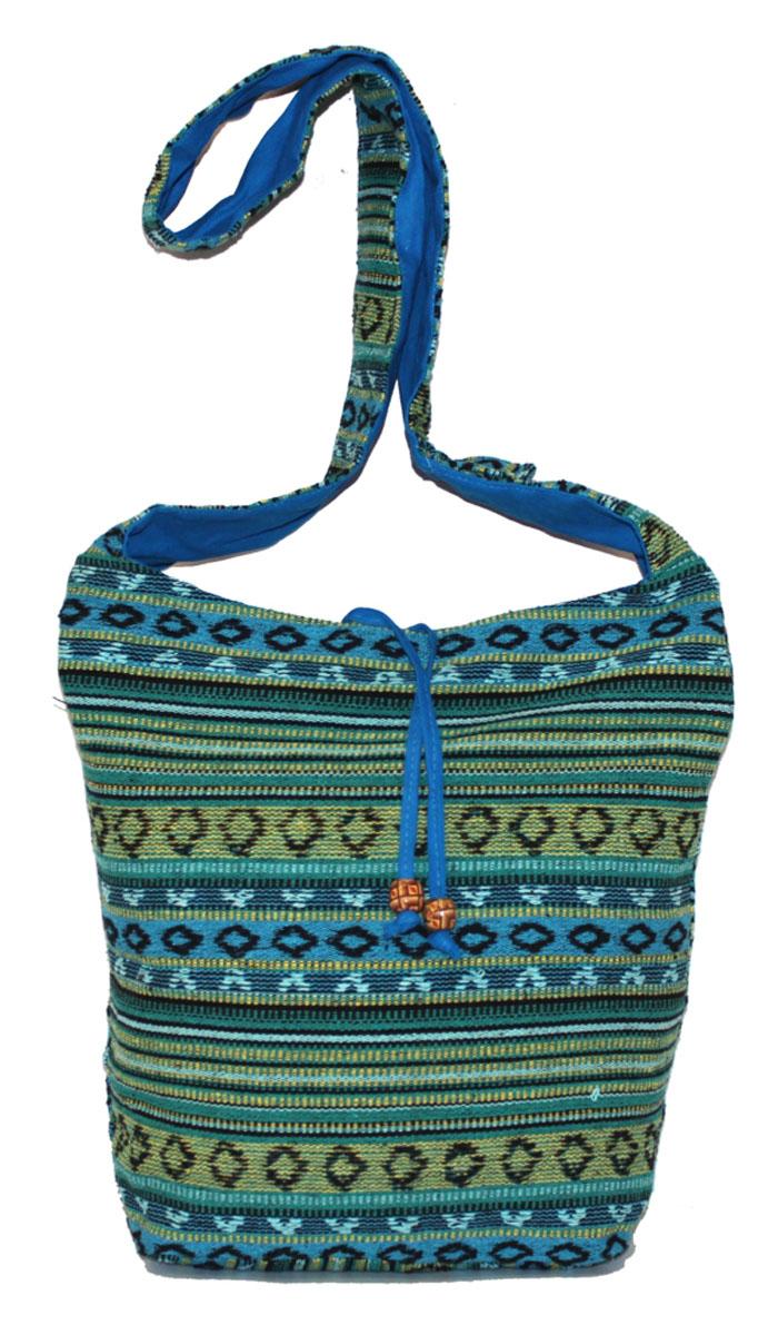 Сумка женская Ethnica, цвет: зеленый, мультиколор. 206165206165Изготавливается из натурального сырья с использованием натуральных красителей.