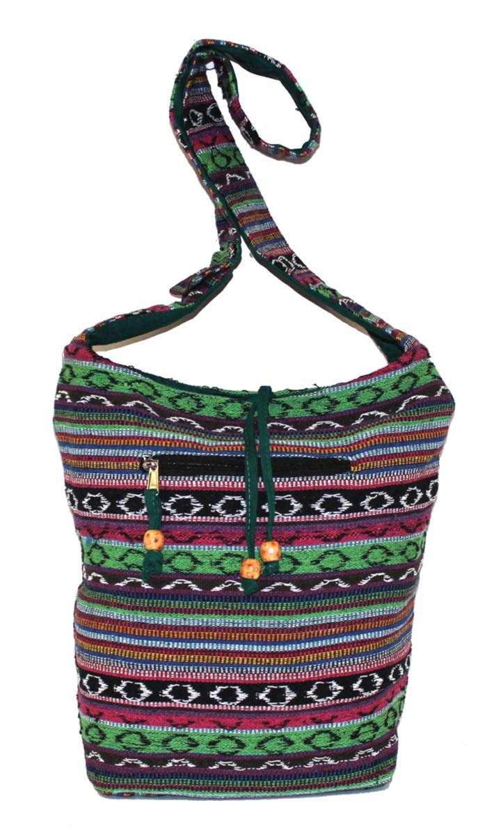 Сумка женская Ethnica, цвет: мультиколор. 206165206165Изготавливается из натурального сырья с использованием натуральных красителей.