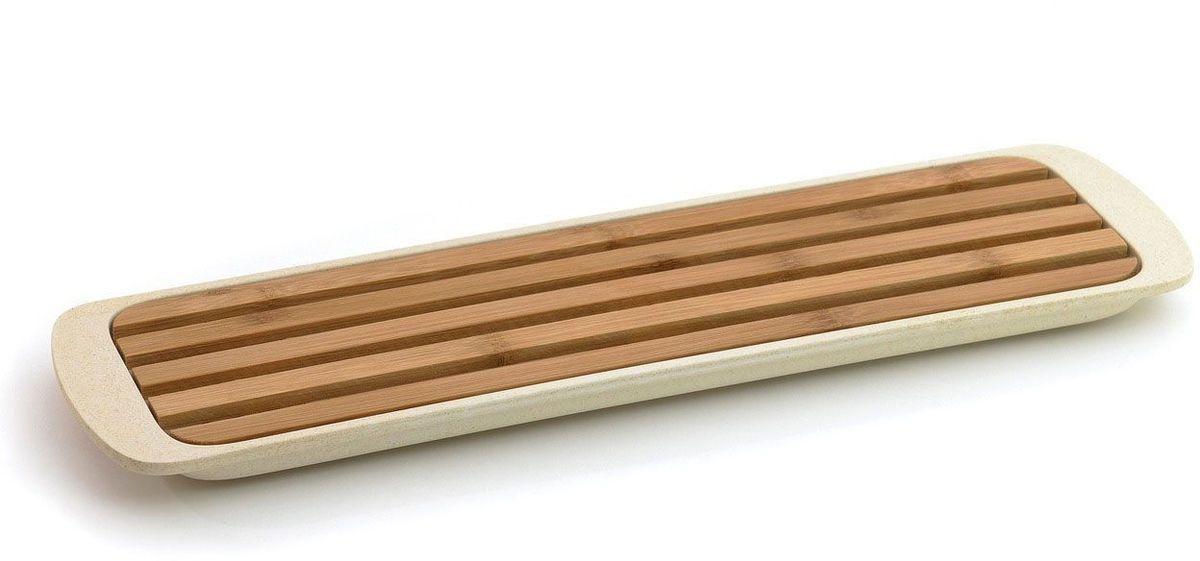 Доска разделочная BergHOFF CooknCo, для нарезки хлеба, 38 х 11 см2800046Разделочная доска BergHOFF CooknCo идеально подойдет для нарезки хлеба и хлебобулочных изделий. Изделие выполнено из бамбуковых волокон и оснащено специальным поддоном из полипропилена для сбора крошек. Не рекомендуется мыть в посудомоечной машине и использовать в микроволновой печи. Размер доски: 33,5 х 9 х 1,4 см. Размер поддона: 38 х 10,7 х 2 см.