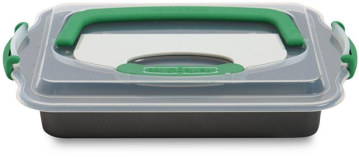 Противень BergHOFF Perfect Slice, прямоугольный, с крышкой и инструментом для нарезания, 36 х 27 х 5 см. 11000521100052