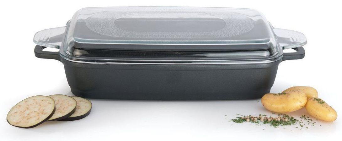 Противень BergHOFF Geminis Scala, со стеклянной крышкой, 45 х 22 см, 3,8 л. 23072222307222