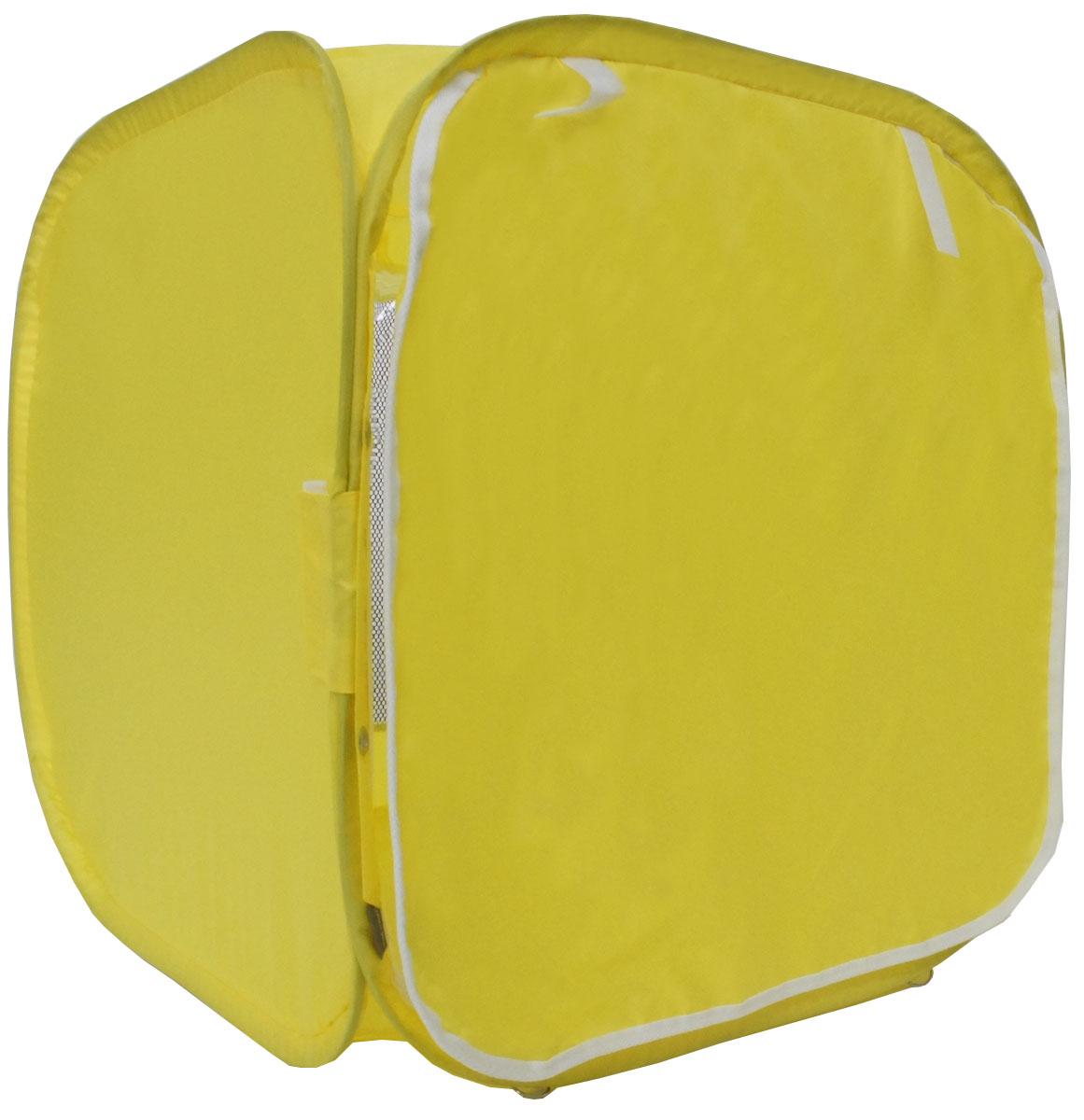Палатка для выставки животных Шоу-Петс, цвет: желтый, 60 х 60 х 60 см. ПВЛ1ЖПВЛ1ЖПалатка разработана профессиональными заводчиками для тех, кто хочет перемещаться и выставляться со своими питомцами легко и комфортно: - палатка разворачивается и сворачивается за 30 секунд; - экран палатки выполнен из суперпрозрачной пленки, шторка по желанию может опускаться и полностью закрывать экран от взглядов посетителей выставки; - палатка сворачивается восьмеркой в компактный блинчик и убирается в компрессионный чехол (идет в комплекте); - в комплекте к палатке идут ремни для крепления к столу, а так же ими удобно фиксировать палатку в поезде на верхней полке или в машине; - со стороны заводчика расположен большой удобный вход в палатку на молнии, бегунки молнии фиксируются крепежом, не позволяющим животному самостоятельно открыть вход и выбраться из палатки; - в скрученном виде палатка практически не занимает места в багаже и не ощущается по весу; - данный размер палатки предназначен для комфортного размещения на выставке одного животного среднего размера; - материал...