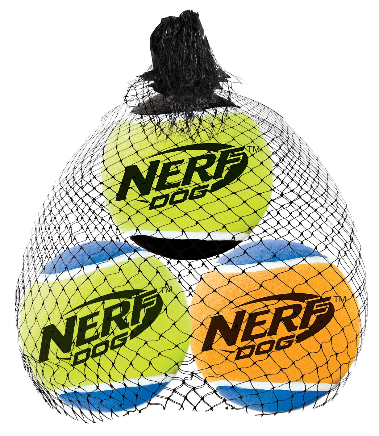 Игрушка для собак Nerf Мяч теннисный, пищащий, диаметр 5 см, 3 шт18647Мячи теннисные (3 шт.) из прочной высококачественной резины! Оснащены пищалкой! Яркие привлекательные цвета! Оптимальный вариант для игры с вашим питомцем! Игрушки Nerf Dog представлены в различных сериях в зависимости от рисунка, фактуры и материала, из которого они изготовлены (резина, ТПР, нейлон, пластик, каучук). Размер: 5 см, S.