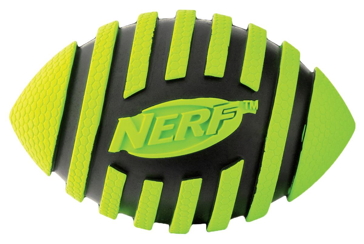 Игрушка для собак Nerf Мяч для регби, пищащий, 9 см22217Мяч-регби с рельефным рисунком! Высококачественные прочные материалы, из которых изготовлена игрушка, обеспечивают долговечность использования! Звук мяча дополнительно увлекает собаку игрой! Яркие привлекательные цвета! Игрушки Nerf Dog представлены в различных сериях в зависимости от рисунка, фактуры и материала, из которого они изготовлены (резина, ТПР, нейлон, пластик, каучук). Размер: 9 см, S.