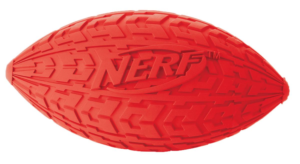Мяч для собак Nerf Регби, пищащий, 10 см22439Мяч-регби с уникальным рисунком протектора шины! Изготовлен из сверхпрочной резины, что обеспечивает долговечность использования! Подходит для собак с самой мощной челюстью! С пищалкой! Яркие привлекательные цвета! Игрушки Nerf Dog представлены в различных сериях в зависимости от рисунка, фактуры и материала, из которого они изготовлены (резина, ТПР, нейлон, пластик, каучук). Размер: 10 см, S.