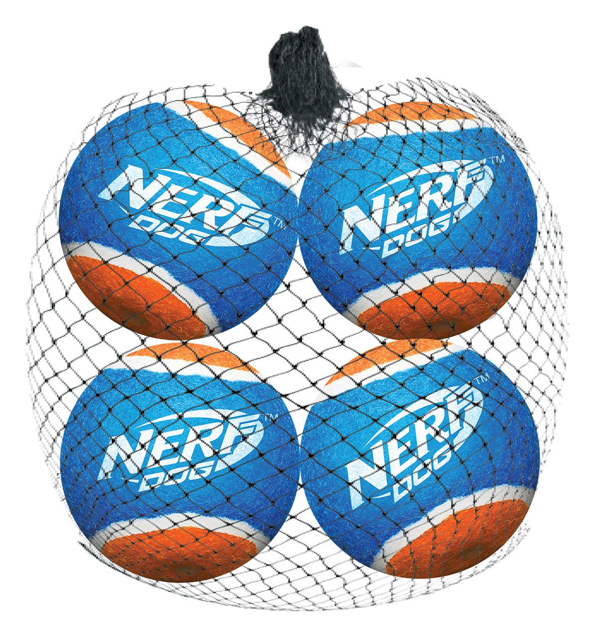 Мяч теннисный для бластера Nerf, диаметр 6 см, 4 шт30762Высококачественные теннисные мячи для бластера NerfDog. Специально разработаны для максимальной траектории полета, безопасны, удобны для захвата. Игрушки Nerf Dog представлены в различных сериях в зависимости от рисунка, фактуры и материала, из которого они изготовлены (резина, ТПР, нейлон, пластик, каучук). Размер: 6 см.