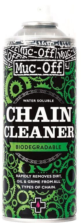 Очиститель цепи Muc-Off Bio Chain Cleaner, 400 мл950Удаляет самые сложные загрязнения без необходимости применения воды. Не оставляет разводов и следов. Водорастворимый. Не содержит озонразрушающих компонентов. Биоразлагаемый. Совместим с комплектом Chain Doc.