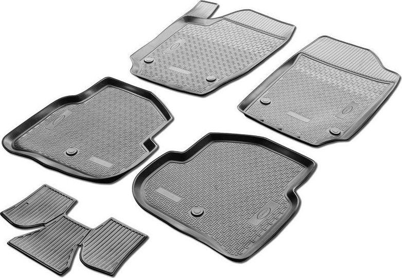 Коврики салона Rival для Ford Focus III 2011-2016, 2016-, c перемычкой, полиуретан0011801003Прочные и долговечные коврики Rival в салон автомобиля, изготовлены из высококачественного и экологичного сырья, полностью повторяют геометрию салона вашего автомобиля. - Надежная система крепления, позволяющая закрепить коврик на штатные элементы фиксации, в результате чего отсутствует эффект скольжения по салону автомобиля. - Высокая стойкость поверхности к стиранию. - Специализированный рисунок и высокий борт, препятствующие распространению грязи и жидкости по поверхности коврика. - Перемычка задних ковриков в комплекте предотвращает загрязнение тоннеля карданного вала. - Произведены из первичных материалов, в результате чего отсутствует неприятный запах в салоне автомобиля. - Высокая эластичность, можно беспрепятственно эксплуатировать при температуре от -45 ?C до +45 ?C. Уважаемые клиенты! Обращаем ваше внимание, что коврики имеет форму соответствующую модели данного автомобиля. Фото служит для визуального восприятия товара.