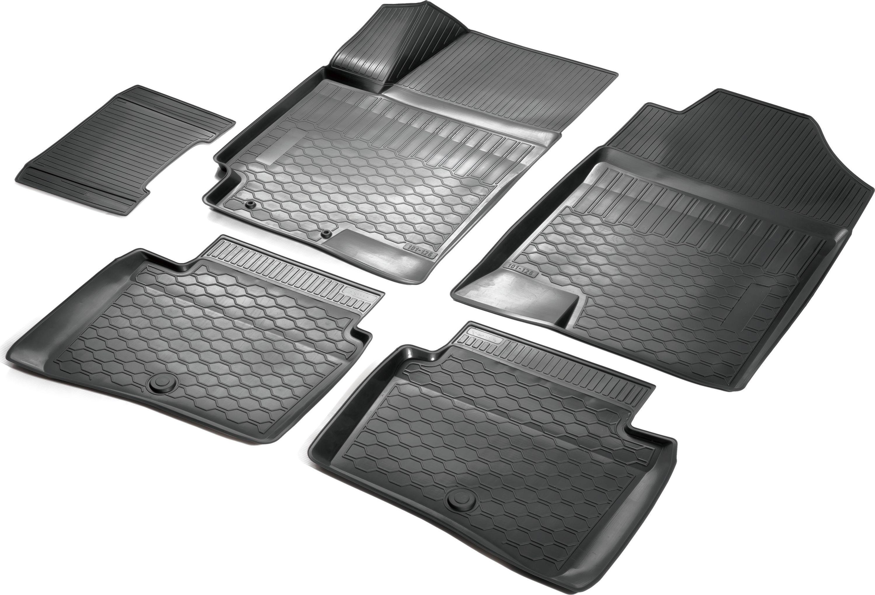 Коврики салона Rival для Hyundai Solaris (SD) 2017-, c перемычкой, полиуретан0012305007Прочные и долговечные коврики Rival в салон автомобиля, изготовлены из высококачественного и экологичного сырья, полностью повторяют геометрию салона вашего автомобиля. - Надежная система крепления, позволяющая закрепить коврик на штатные элементы фиксации, в результате чего отсутствует эффект скольжения по салону автомобиля. - Высокая стойкость поверхности к стиранию. - Специализированный рисунок и высокий борт, препятствующие распространению грязи и жидкости по поверхности коврика. - Перемычка задних ковриков в комплекте предотвращает загрязнение тоннеля карданного вала. - Произведены из первичных материалов, в результате чего отсутствует неприятный запах в салоне автомобиля. - Высокая эластичность, можно беспрепятственно эксплуатировать при температуре от -45 ?C до +45 ?C. Уважаемые клиенты! Обращаем ваше внимание, что коврики имеет форму соответствующую модели данного автомобиля. Фото служит для визуального восприятия товара.