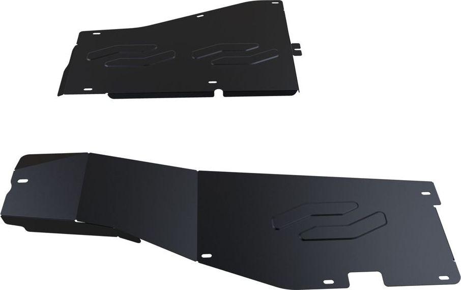 Защита топливных трубок Автоброня, для Honda Pilot 2012-, сталь 1,8 мм, комплект крепежа111.02124.1Защита топливных трубок Автоброня Honda Pilot, V - 3,5 2012-, сталь 1,8 мм, комплект крепежа, 111.02124.1 Стальные защиты двигателя и других элементов Автоброня Надежно защищают Ваш автомобиль от повреждений при наезде на бордюры, выступающие канализационные люки, кромки поврежденного асфальта или при ремонте дорог, не говоря уже о загородных дорогах. - Имеют оптимальное соотношение цена-качество. - Спроектированы с учетом особенностей автомобиля, что делает установку удобной. - Защита устанавливается в штатные места кузова автомобиля. - Является надежной защитой для важных элементов на протяжении долгих лет. - Глубокий штамп дополнительно усиливает конструкцию защиты. - Подштамповка в местах крепления защищает крепеж от срезания. - Технологические отверстия там, где они необходимы для смены масла и слива воды, оборудованные заглушками, надежно закрепленными на защите. Толщина стали: 2 мм. В комплекте набор крепежа и...