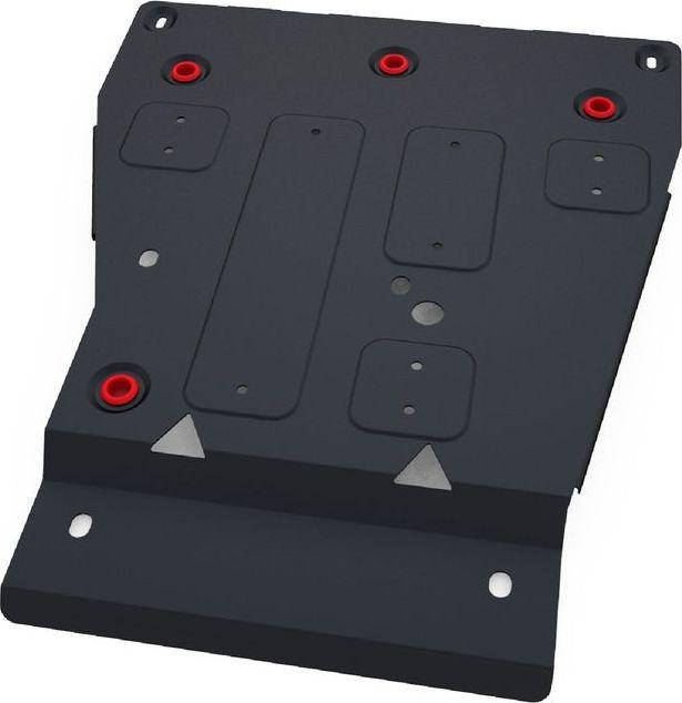 Защита КПП и РК Автоброня, для Ssang Yong Stavic 2013-, сталь 1,8 мм, комплект крепежа111.05316.1Защита КПП и РК Автоброня Ssang Yong Stavic, V - 2,0 TD 2013-(также можно приобрести другие защитные элементы из комплекта: защита радиатора - 111.05314.1, защита картера - 111.05315.1), сталь 1,8 мм, комплект крепежа, 111.05316.1 Стальные защиты двигателя и других элементов Автоброня Надежно защищают Ваш автомобиль от повреждений при наезде на бордюры, выступающие канализационные люки, кромки поврежденного асфальта или при ремонте дорог, не говоря уже о загородных дорогах. - Имеют оптимальное соотношение цена-качество. - Спроектированы с учетом особенностей автомобиля, что делает установку удобной. - Защита устанавливается в штатные места кузова автомобиля. - Является надежной защитой для важных элементов на протяжении долгих лет. - Глубокий штамп дополнительно усиливает конструкцию защиты. - Подштамповка в местах крепления защищает крепеж от срезания. - Технологические отверстия там, где они необходимы для смены масла и слива...