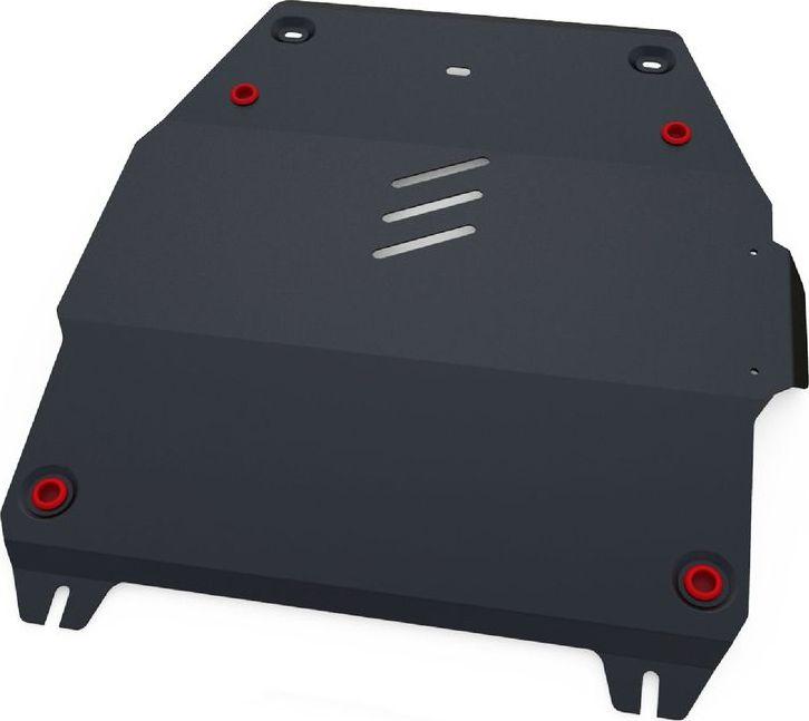 Защита картера и КПП Автоброня, для Mg 350 2013-/Mg 5 2013-, сталь 1,8 мм, комплект крепежа111.08601.1Защита картера и КПП Автоброня для Mg 350 АКПП, V - 1,5 2013-/Mg 5 АКПП, V - 1,5 2013-, сталь 1,8 мм, комплект крепежа, 111.08601.1 Стальные защиты двигателя и других элементов Автоброня Надежно защищают Ваш автомобиль от повреждений при наезде на бордюры, выступающие канализационные люки, кромки поврежденного асфальта или при ремонте дорог, не говоря уже о загородных дорогах. - Имеют оптимальное соотношение цена-качество. - Спроектированы с учетом особенностей автомобиля, что делает установку удобной. - Защита устанавливается в штатные места кузова автомобиля. - Является надежной защитой для важных элементов на протяжении долгих лет. - Глубокий штамп дополнительно усиливает конструкцию защиты. - Подштамповка в местах крепления защищает крепеж от срезания. - Технологические отверстия там, где они необходимы для смены масла и слива воды, оборудованные заглушками, надежно закрепленными на защите. Толщина стали: 2 мм. В...