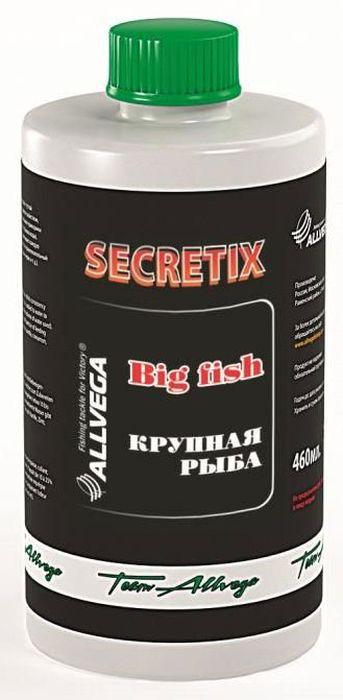 Ароматизатор жидкий для рыбалки ALLVEGA Secretix Big Fish, крупная рыба, 460 мл0057660Aроматизатор, обладающий густой консистенцией и клеящим свой-ством, добавляется в воду для заме-шивания прикормки (от 10 до 25% от используемого объема воды). Ароматизированная вода пропиты-вает каждую частичку прикормки и придаёт ей привлекательный за-пах (ванили, корицы, клубники, чер-вя и т. д.).Этот любимый рыболовами нежный фруктовый вкус всегда считался эффективной добавкой для ловли карпа.