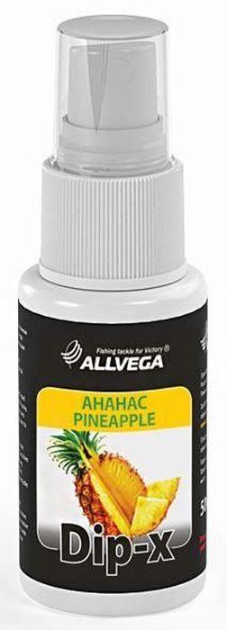 Ароматизатор-спрей для рыбалки ALLVEGA Dip-X Pineapple, ананас, 50 мл0057669Dip-x - это серия высококонцентрированных растворов с различными запахами в виде спрея, предназначенных для быстрой ароматизации различных наживок и приманок, в том числе искусственных. Широкий ассортимент запахов позволяет выбрать оптимальный вариант в любой ситуации. Емкость: 50 мл.