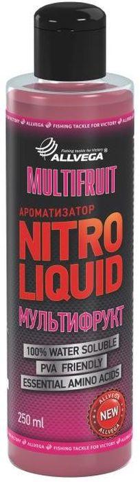 Ароматизатор жидкий для рыбалки ALLVEGA Nitro Liquid Multifruit, мультифрукт, 250 мл0057678Имеет характерный фруктовый вкус и незабываемый аромат, который активно привлекает всю белую рыбу.