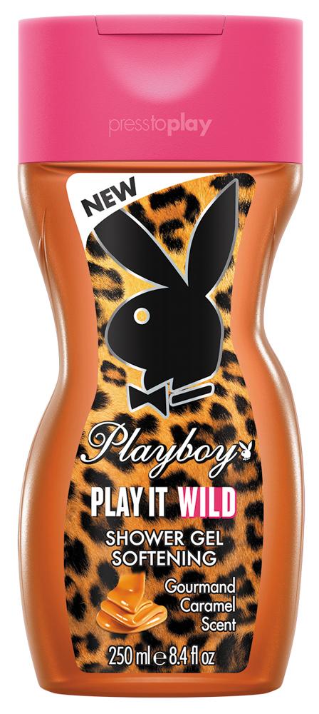 Playboy Play It Wild Female Парфюмированный гель для душа 250 мл3614221140642Каждый день, утром и вечером, перед тем как надеть свои любимые туфли и отправиться покорять этот Мир, подари своему телу неповторимый уход и увлажнение. Для свежего, чувственного и длительного аромата, используй гель или крем для душа Playboy.