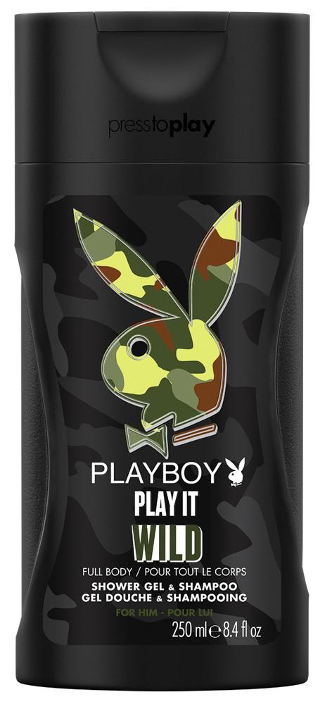 Playboy Play It Wild Male Парфюмированный гель для душа 250 мл3614221141380Пусть каждый день будет особенным. Гель для душа и шампунь Playboy придаст свежесть и заряд энергии на весь день. Она не сможет устоять!