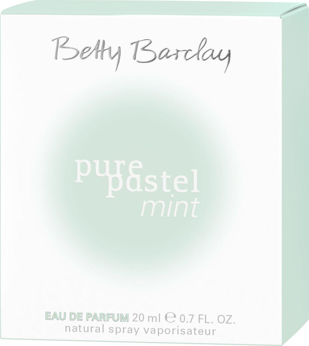 Betty Barclay Pure Pastel Mint Туалетная вода 20 мл4011700337118Новинка Pure Pastel Mint - это удивительный парфюм, в котором умело сочетаются теплые и прохладные ноты, в нем есть нежность и дерзость, уютная мягкость и жгучая страсть. Композиция открывается нотами юзу, пикантной пряностью черной смородины и деликатной пряностью розового перца. В сердце распускается потрясающая чайная роза в окружении цикламена и иланг-иланга. Теплый изменчивый шлейф строится на аккордах сандалового дерева и завораживающей чувственности мускуса.
