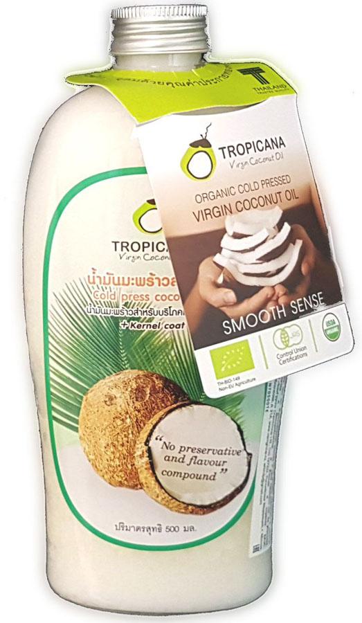 Кокосовое масло холодного отжима Tropicana, 500 млС17058/01Кокосовое масло холодного отжима идеально подходит для ежедневного использования. Производится из лучших пород кокоса, растущих в южной части Таиланда, с помощью холодного прессования кокоса и внутренней оболочки ядра. Золотисто-желтое кокосовое масло насыщено питательными веществами полезными для здоровья, такими как: витамины группы В, Е, С, Н, клетчаткой, микро- и макроэлементами: калий, кальций, йод, марганец, фосфор, медь. Кроме этого в составе кокоса выделяют лауриновую кислоту. Кокосовое масло при применении его внутрь помогает расходовать больше энергии и сбрасывать вес, эффективно борется с бактериями и вирусами, уменьшает чувство голода, снижает уровень холестерина и уменьшает риск развития сердечно-сосудистых заболеваний, помогает избавиться от жира, особенно находящегося в брюшной полости. Жирные кислоты кокосового масла могут улучшать работу головного мозга у пациентов с болезнью Альцгеймера. Золотисто-желтое кокосовое масло насыщено питательными веществами полезными для...