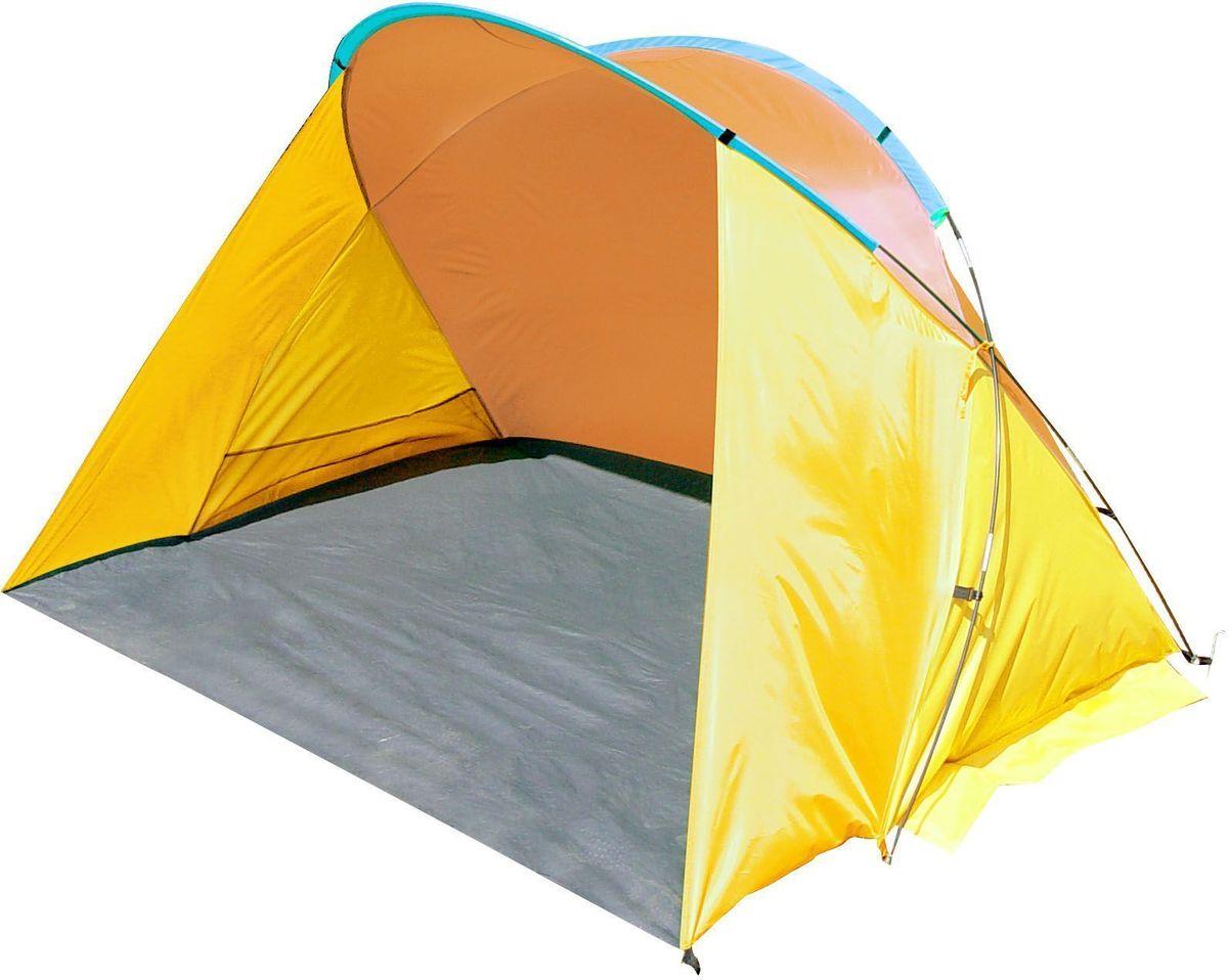 Тент пляжный GoGarden Monaco Beach, 200 х 150 х 125 см, цвет: желтый, оранжевый50222Пляжный тент GoGarden Miami Beach, обеспечивает защиту от солнца, ветра и даже легких осадков - особенно полезен для очень маленьких детей. Очень прост в установке, имеет малый вес и удобный чехол с ручкой для переноски. Особенности модели: Простая и быстрая установка, Тент палатки из полиэстера, с пропиткой PU водостойкостью 800 мм Каркас выполнен из прочного стекловолокна, Дно изготовлено из прочного армированного полиэтилена, Утяжеляющие карманы для песка для устойчивости тента, Карманы для мелочей по бокам тента, Растяжки и колышки в комплекте. Характеристики: Цвет: желтый/оранжевый. Размер шатра: 200 см х 150 см х 125 см. Материал шатра: 100% полиэстер, пропитка PU. Водостойкость тента: 800мм. Материал дуг: стеклопластик 7,9 мм. Вес: 1,5 кг. Размер в сложенном виде: 10 см х 68 см. Производитель: Китай. Артикул: 50222.