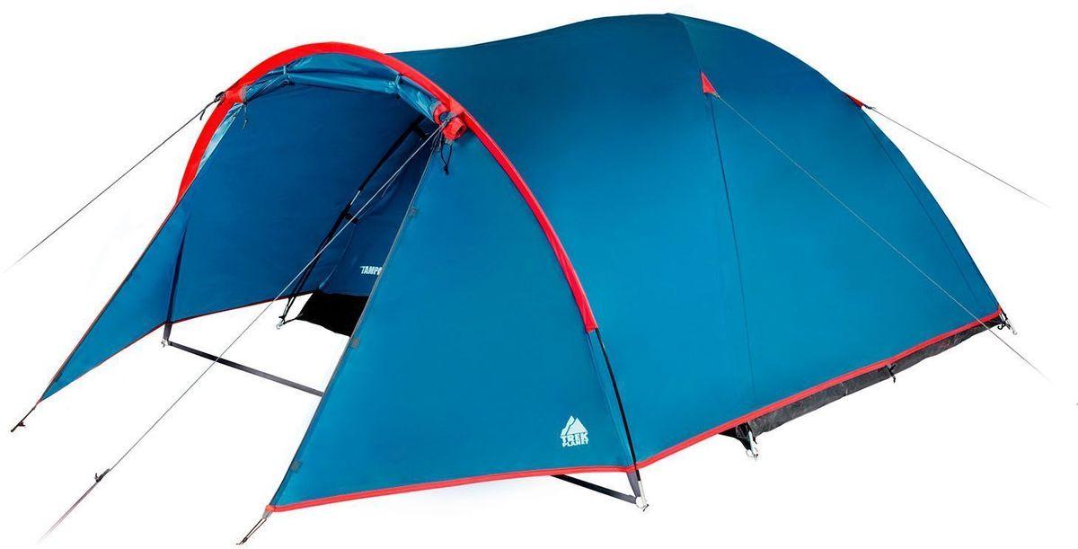 Палатка четырехместная Trek Planet Tampa 4, цвет: синий, красный70115Четырехместная палатка Trek Planet Tampa 4 имеет вместительный тамбур и хорошую вентиляцию. Очень удобная палатка для отдыха или пикника выходного дня для небольшой семьи или компании. Прочная и надежная, легко и просто устанавливается, отлично защитит от дождя и ветра. Особенности модели: Палатка легко и быстро устанавливается, Тент палатки из полиэстера, с пропиткой PU водостойкостью 2000 мм, надежно защитит от дождя и ветра, Все швы проклеены, Внутренняя палатка, выполненная из дышащего полиэстера, обеспечивает вентиляцию помещения и позволяет конденсату испаряться, не проникая внутрь палатки, Каркас выполнен из прочного стеклопластика, Дно изготовлено из прочного армированного полиэтилена, Просторный тамбур, Удобная D-образная дверь на входе во внутреннюю палатку, Москитная сетка на входе в спальное отделение в полный размер двери, Вентиляционное окно, Внутренние карманы для мелочей, Возможность подвески фонаря в...