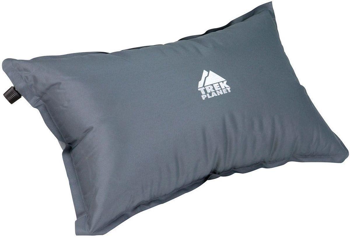 "Подушка туристическая Trek Planet ""Relax Pillow"", самонадувающаяся, 47 х 28 х 15 см, цвет: серый"