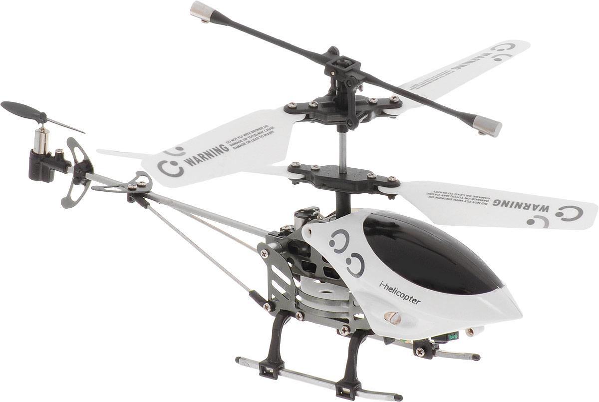 HappyCow Вертолет на инфракрасном управлении I-Helicopter цвет белый черный