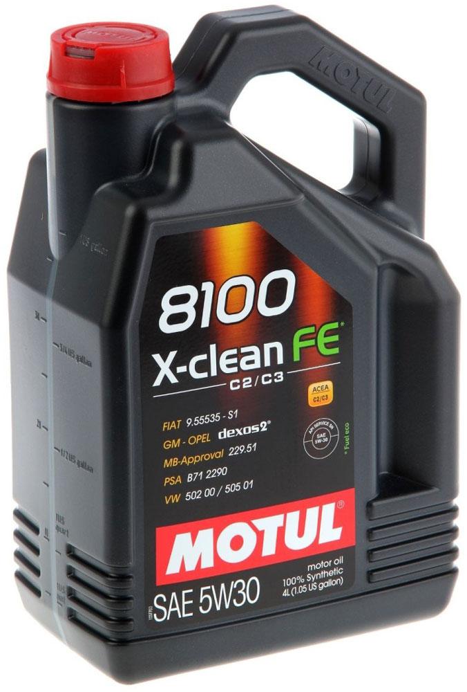 Масло моторное Motul 8100 X-Clean, синтетическое, 5W-30, 4 л104776100% синтетическое моторное масло со сниженным содержанием сульфатной золы (?0,8%), фосфора (0.07%-0.09%), серы (?0.3%) - Mid SAPS. Специально разработано для обеспечения высоких защитных свойств и топливной экономичности. Применяется для последнего поколения бензиновых и дизельных двигателей, отвечающих требованиям норм Евро IV и Евро V, которые оснащаются каталитическим нейтрализатором или сажевым фильтром (DPF). Соответствует требованиям PSA B71 2290 и GM-OPEL dexos2. ACEA Стандарты: ACEA C2 / C3 API Стандарты: API SERVICES SN / CF Одобрения: GM-OPEL dexos2; MB-Approval 229.51; PSA B71 2290; VW 502 00 / 505 01; FIAT 9.55535-S1 / S3
