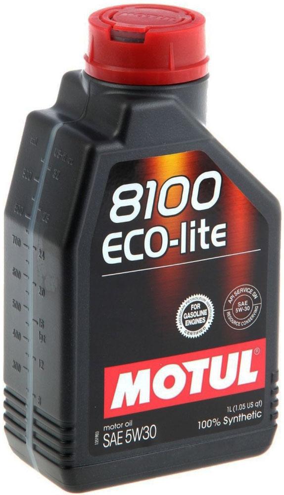 Масло моторное Motul 8100 Eco-Lite, синтетическое, 5W-30, 1 л. 104987104987100% синтетическое энергосберегающее моторное масло для современных бензиновых двигателей Honda, Subaru и Toyota, а так же других азиатских производителей, требующих масло класса вязкости 30. API Стандарты: API SERVICES SN; ILSAC GF-5 Одобрения: GM-dexos1