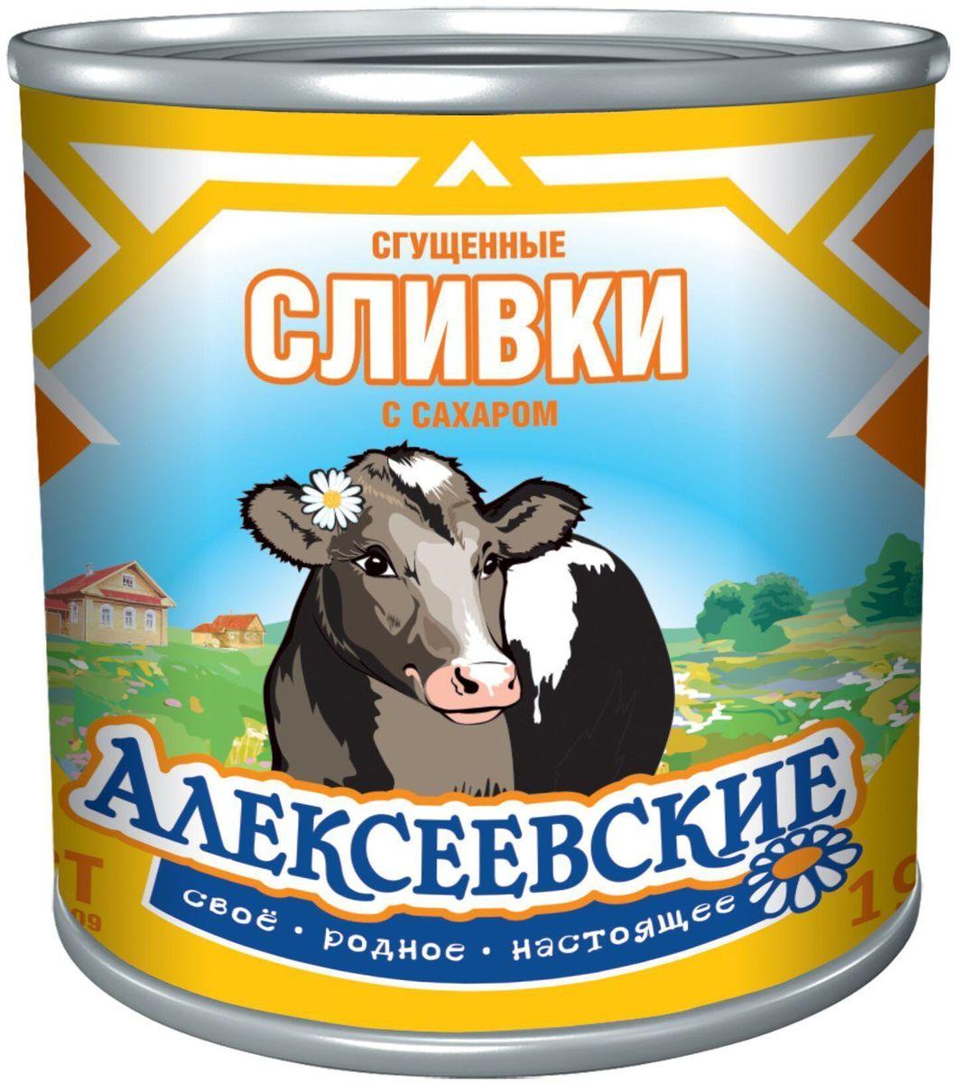 Сливки сгущенные с сахаром 19% Алексеевские из цельного и обезжиренного молока, густой продукт с насыщенным вкусом. Отличная добавка в чай и кофе, прекрасная начинка для кулинарных изделий. Пищевая ценность на 100 г продукта: жиры - 8.5 г, бекков - 7.2 г, углеводов - 56 г.