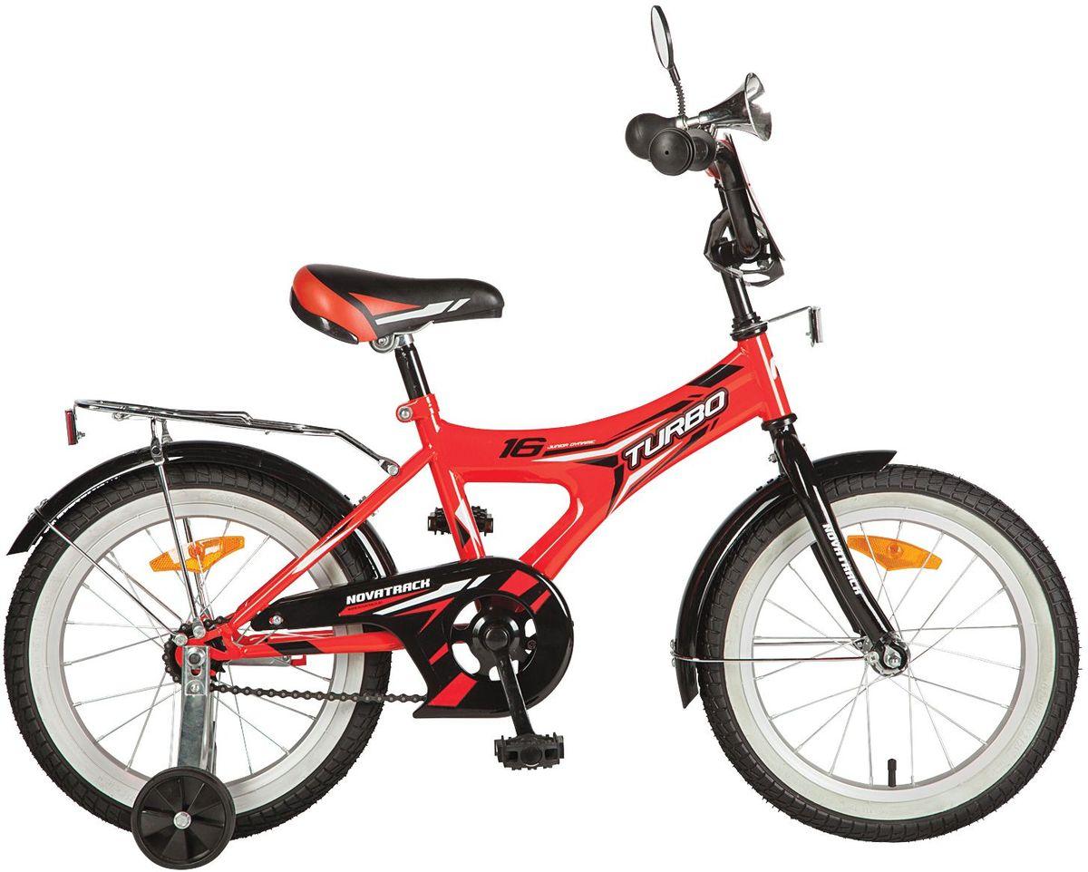 Велосипед детский Novatrack TURBO, цвет: красный, 16167TURBO.RD7Novatrack Turbo 16 - для самый активных и подвижных детишек . Дизайн велосипеда сделан в спортивном стиле , как впрочем и само название . Модель оборудована уже практическими всеми аксессуарами такими как , зеркало , клаксон и багажник сзади . А чтоб ваш ребёнок оставался сухим и чистым , на велосипед так же установили полноразмерные крылья . Такая модель отлично подойдёт для детей от 3 до 5 лет