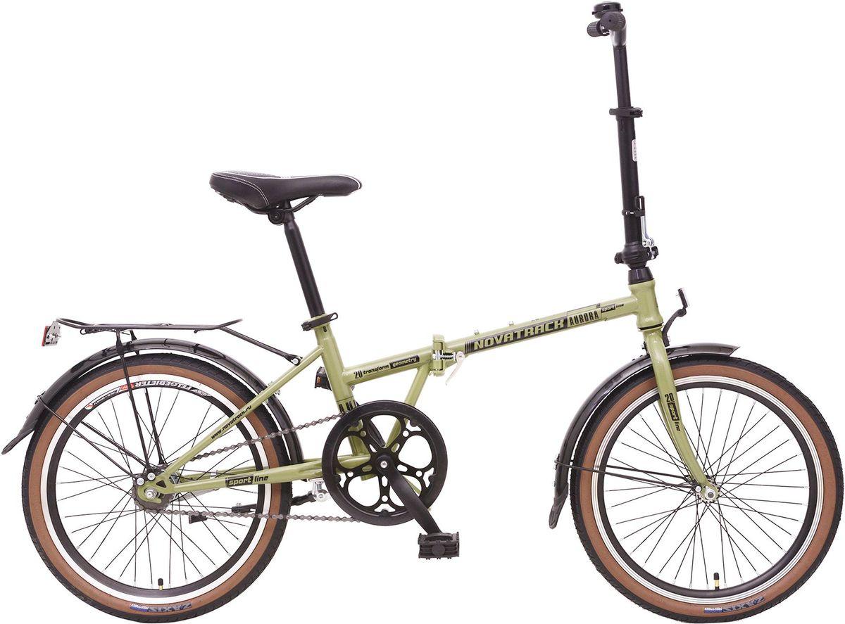 Велосипед складной Novatrack Aurora, цвет: зеленый, 2020AURORA2S.GR6Складной велосипед Novatrack Aurora 20 это практичный складной велосипед, который отличается своей простотой управления, компактностью и универсальностью. Поместить такой велосипед на балконе, в шкафу или перевести в багажнике автомобиля не составит труда. Велосипед оснащен автоматическием переключением скоростей оптимизированным планетарной втулкой от SRAM, установленной на оси заднего колеса. Планетарное переключение, по сравнению с другими системами переключения скоростей, отличается высокой надежностью. Рама велосипеда очень прочная, так как выполнена из высококачественной легированной стали. Торможение осуществляется надежным ножным тормозом.