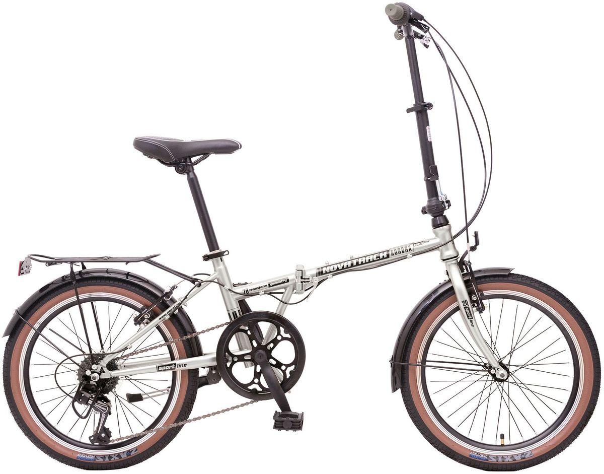 Велосипед складной Novatrack Aurora, цвет: серый металлик, 2020AURORA6SV.GR7Складной велосипед Novatrack Aurora 20 это практичный складной велосипед, который отличается своей простотой управления, компактностью и универсальностью. Поместить такой велосипед на балконе, в шкафу или перевести в багажнике автомобиля не составит труда. Велосипед Novatrack Aurora 20 оснащен переключением скоростей, оптимизированным оборудованием Shimano, которое обеспечивает выбор между 6 скоростными режимами. Рама велосипеда очень прочная, так как выполнена из пвысокопрочной легированной стали. Торможение осуществляется передним и задним ободным тормозом.