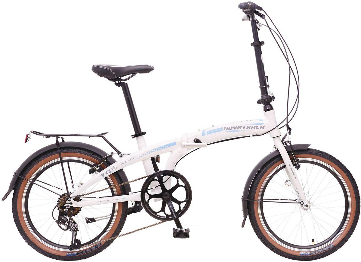 Велосипед складной Novatrack TG-20, цвет: белый, 2020FATG7SV.WT6Складной велосипед Novatrack TG- 20 это практичный складной велосипед, который отличается своей простотой управления, компактностью и универсальностью. Поместить такой велосипед на балконе, в шкафу или перевести в багажнике автомобиля не составит труда. Складной велосипед Novatrack 20 оснащен переключением скоростей, оптимизированным оборудованием Shimano, которое обеспечивает выбор между 7 скоростными режимами. Рама велосипеда очень прочная, так как выполнена из пвысокопрочного алюминиевого сплава, но в тоже время легкая, поэтому катание на таком велосипеде одно удовольствие.