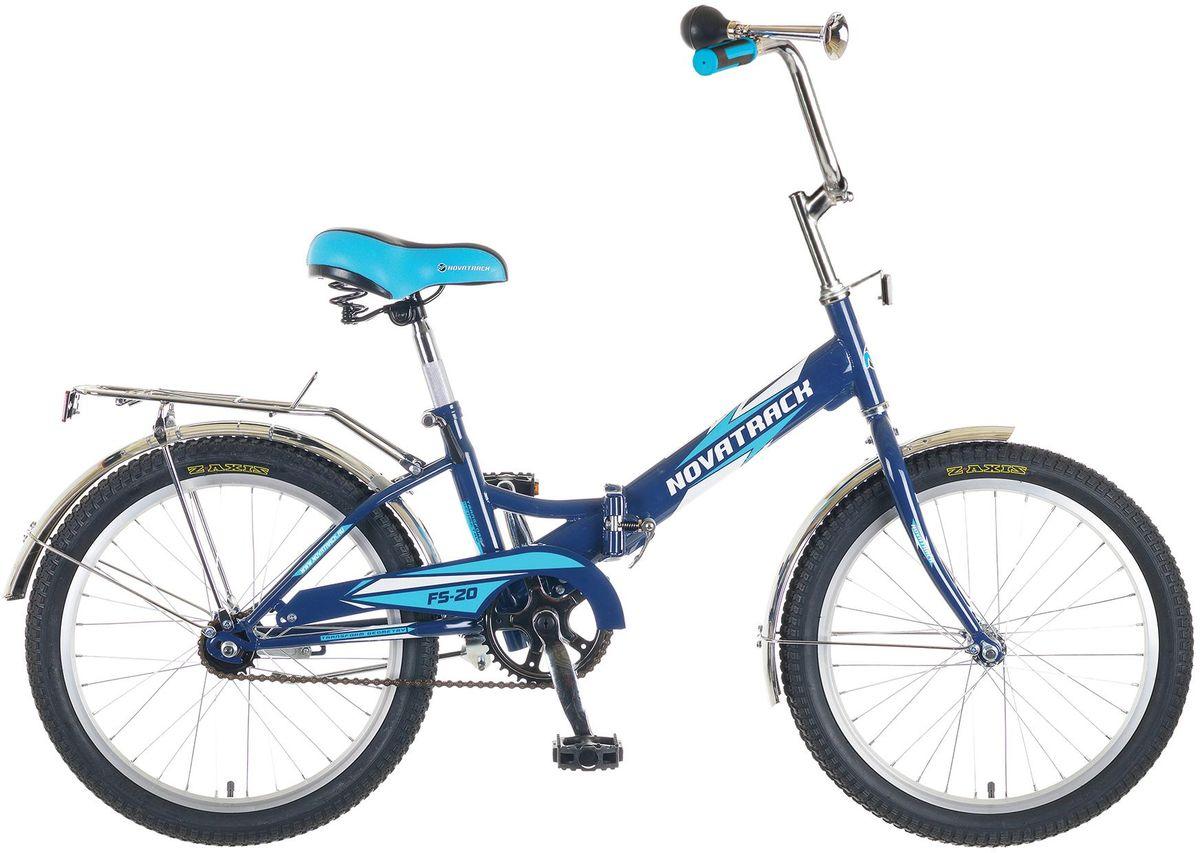 Велосипед детский Novatrack FS-20, цвет: синий, 2020FFS201.BL5Перед вами складной подростковый велосипед Novatrack FS20 20, рассчитанный на ребят 8-14 лет. Его отличает универсальность рамы, надежность, неприхотливость и отличная управляемость. На велосипед установлено мягкое и удобное сидение, которое позволяет с комфортом кататься хоть по несколько часов подряд. При необходимости рама велосипеда складывается, поэтому велосипед очень удобно хранить и перевозить. Novatrack FS20 20'' укомплектован защитой цепи, крыльями, усиленным багажником, ножным тормозом и подножкой, которая позволяет велосипеду принять устойчивое положение во время стоянки. Стоит отметить, что сидение и руль регулируются по высоте и надежно фиксируются.
