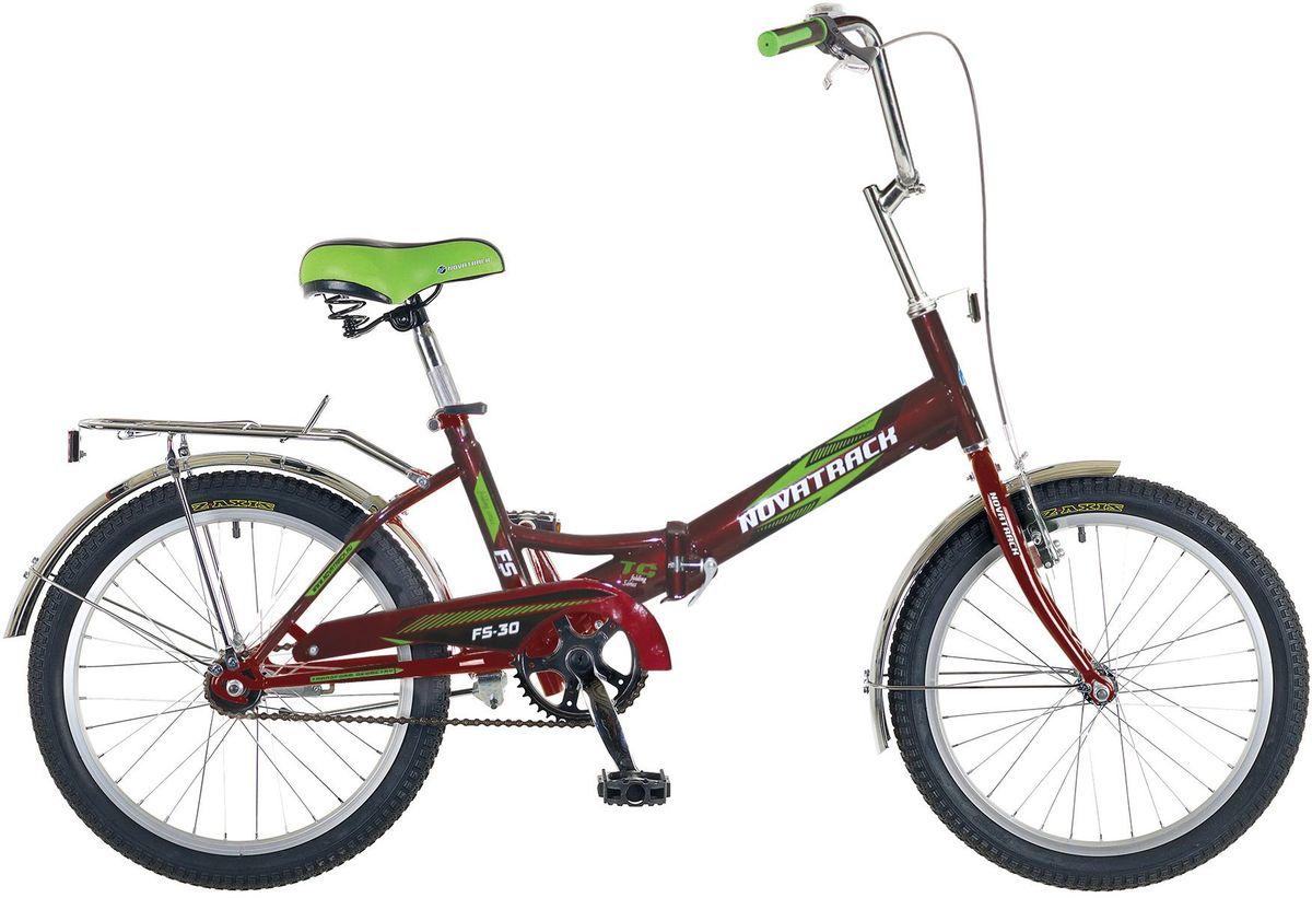 Велосипед детский Novatrack FS-30, цвет: бордовый, 2020FFS301V.CH6Novatrack FS-30 20'' – это складной подростковый велосипед, рассчитанный на ребят 8-14 лет, который отличается неприхотливостью, хорошей управляемостью и практичностью. Стальная рама складывается пополам, позволяя разместить велосипед в автомобиле или компактно хранить его в домашних условиях. Стоит отметить широкий диапазон регулировки высоты сидения и руля, благодаря чему велосипед универсален и подойдет для ребят различного роста. Торможение осуществляется ножным тормозом, который работает при любых условиях. Велосипед оснащен хромированными крыльями, широким усиленным багажником, защитным кожухом цепи, подножкой и светоотражателями.