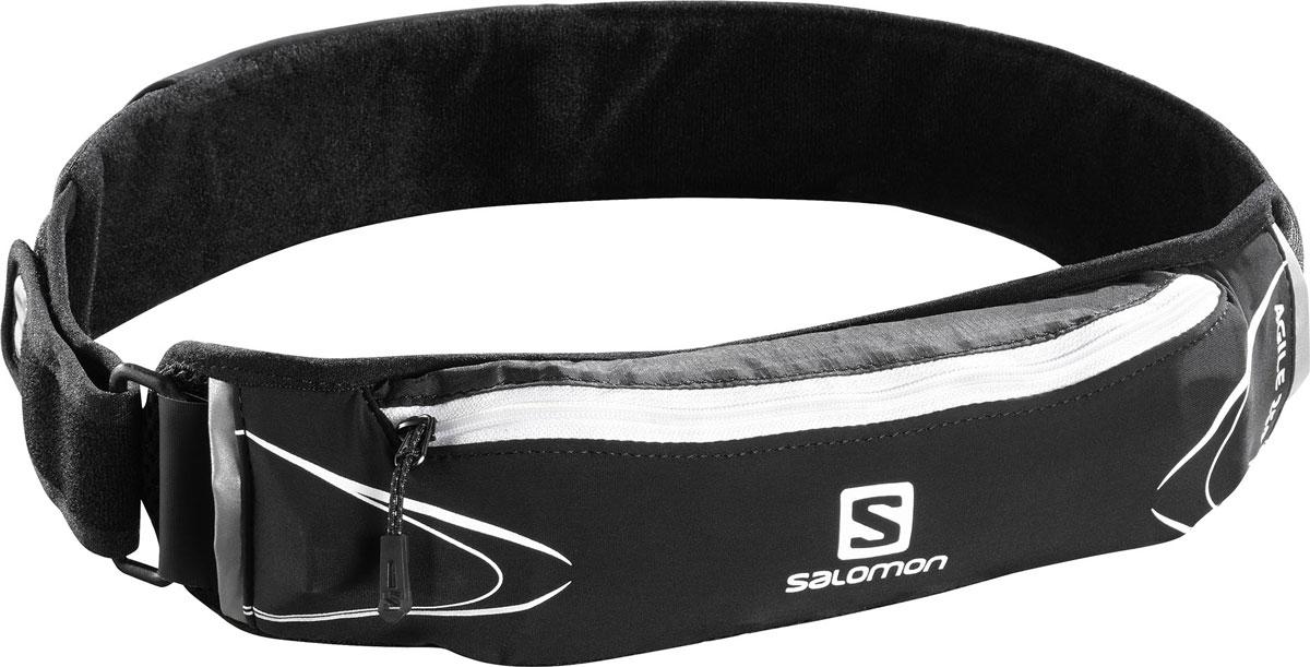 Сумка поясная Salomon Agile 250 Belt Set, с бутылкой 250 мл, цвет: черныйL37579000Сумка поясная Salomon Agile 250 Belt Set легко крепится на поясе и позволяет взять с собой дополнительную емкость с энергетиком, гелем и т. п. У сумки один передний карман быстрого доступа, один поясной карман на молнии и один задний карман на молнии. Суперэластичный пояс не смещается даже при прыжках и обеспечивает быстрый доступ к мягкой фляге и другим нужным вещам. Регулируемый пояс застегивается на липучки. Благодаря универсальному размеру и возможности подгонки подойдет бегунам с тонкой талией. В комплекте имеется мягкая фляга 250 мл.