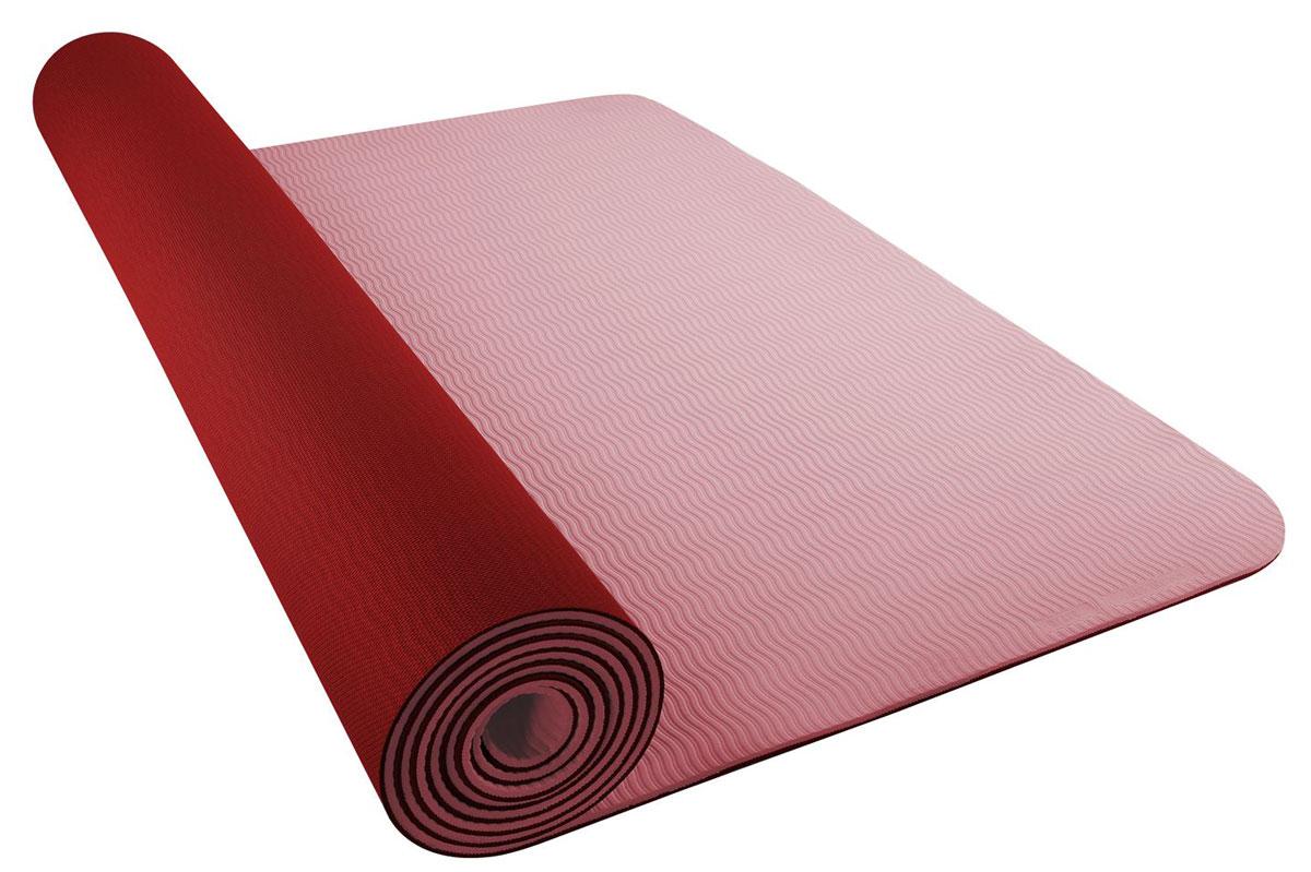 Коврик для йоги Nike Yoga Mat 5mm, цвет: бордовый, коралловыйN.YE.31.627.OSПрактичный коврик Nike Yoga Mat 5mm отлично подходит для занятий йогой или фитнесом. Изделие выполнено из термопластичного эластомера и материала ЭВА с добавлением полиэстера. Текстура нижнего слоя предотвращает скольжение. Изделие легко скручивается и сохраняет плоскую форму после раскручивания. Толщина коврика обеспечивает комфорт во время тренировок на твердом полу. Шнурок для переноски обеспечивает комфортнуютранспортировку. Размер коврика: 62 х 175 см. Толщина коврика: 5 мм.